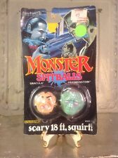 Vintage 1989 Entertech MONSTER SPITBALLS Dracula Frankenstein Toy Squirt ball