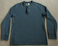 Eddie Bauer Blue Gray Henley Thermal Shirt Large Tall LT Long Sleeve EXCELLENT