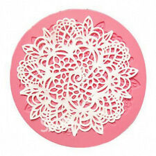 Silicone Lace Fondant Mat Mold Sugar Candy Cake Decorating Mould Bake Tool LE