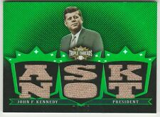 2007 Topps Triple Threads John F. Kennedy Emerald Sweater Relic (Ask Not) #5/18!