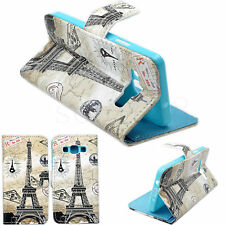 Protective Leather Flip Folding Wallet Rubber Case Cover For Samsung Galaxy A3