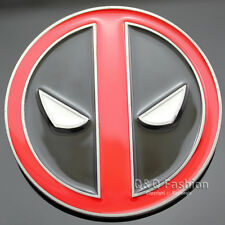 Men Comic Superhero Black & Red Deadpool Mask Silver Belt Buckle Cosplay
