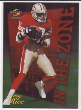 1996 Score In The Zone #17 Jerry Rice Football Card 49ers