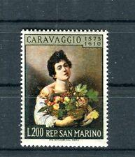 San Marino 1960 350° anniversario morte pittore Caravaggio Mnh
