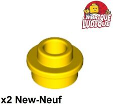 Lego 2x Plate Round plaque ronde trou Open Stud 1x1 jaune/yellow 85861 NEUF