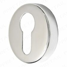 Euro Keyhole 50mm Escutcheons STAINLESS STEEL Key Plate Door Lock Cover Surround