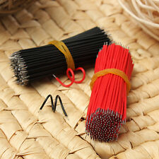 400pcs Motherboard Breadboard Jumper Cable Electronic Wires Tinned 6cm Black&Red