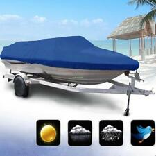 600D 16 17 18ft Waterproof Fish-Ski V-Hull Speedboat Boat Rain Dust Cover Blue