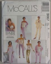 McCall's 3067 Sewing Pattern Jacket Bustier Pants Skirt Stole Size 8 10 12 DMR