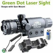 Tactical Green Laser Sight Rifle Dot Scope Picatinny Rail+Switch+Mount+Battery