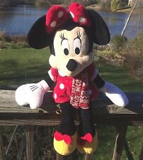 Minnie Mouse Plush Red and White Muffler Dress Bow White Pants about 25 Inches