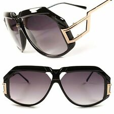 Stylish Hip Hop Vintage Retro Wide Face Mens Oversized Aviator Sunglasses D49A