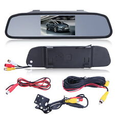 "4.3"" Car TFT LCD Monitor Mirror+Wireless Reverse Car Rear View Backup Camera Kit"