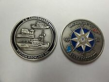 CHALLENGE COIN US COAST GUARD STATION ROCKLAND MAINE GUARDIANS OF PENOBSCOT BAY