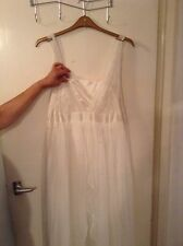 Pretty Ex Monsoon Wedding Dress with Chiffon Draped Layers, size 20