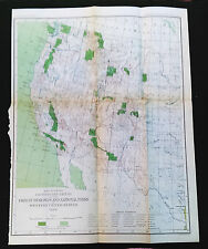 1899 Map of Forest Reserves and National Parks in Western United States