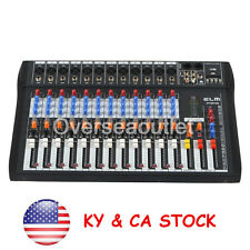 US 120S-USB 12 Channel Mic Line Live Studio Audio Mixer Mixing Console Power