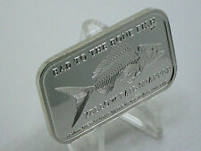 YELLOW TAIL SNAPPER ~ BAD TO THE BONE FISH ~ DT MINT~ ONLY 40 SILVERS BAR MADE