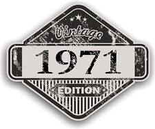 Aged Distressed Vintage Edition Yr 1971 Retro Cafe Racer Motorcycle car sticker