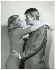 CHERYL HOLDRIDGE KISSES WILL HUTCHINS TAKE ME TO YOUR LEADER 1963 ABC TV PHOTO