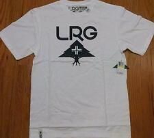Mens L-R-G Lifted Research Group LRG Core Tree T-Shirt White/Navy Blue Medium