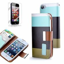 For Apple Iphone SE 5, 5s PU Leather Card Holder Wallet Flip Case Cover Color-3