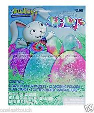 DUSLEYS 24pc Easter Egg GLITTER TIE DYE Non-Toxic Food Colors DECORATING KIT 1/2