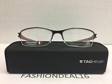 New Authentic Tag Heuer Red Gray Reflex Titanium Optical TH7622 013 Eyeglasses