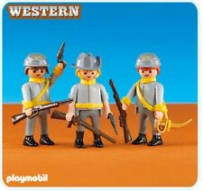 Playmobil Add On 6276 3 Confederate Soldiers - New, Sealed