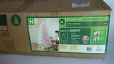 Holiday Time 4 Ft Multi-Color Pre-Lit White Indiana Spruce Christmas Tree