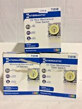 Lot Of (3) Intermatic (T101M) 24 Hour Mechanical Time Switches 0558
