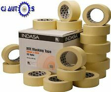 "Indasa 36mm Low Bake Masking Tape 1.5"" Rolls High Temp Paint Up to 80C MTE36 X 6"
