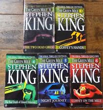 Stephen King The Green Mile Lot 5 Books