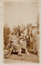 Old Vintage Antique Photograph Group of People Cool Outfits and Hats