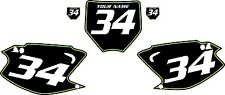 2003-2012 Kawasaki KX125 Custom Pre Printed Black Backgrounds Green Pinstripe