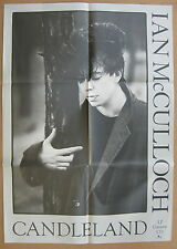 IAN MCCULLOCH Candleland Orig 1988 US Promo POSTER Minty! ECHO AND THE BUNNYMEN