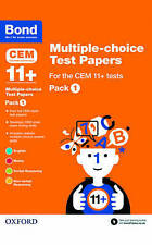 NEW Bond 11+: Multiple-choice Test Papers for the CEM 11+ Tests Pack 1