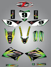 Kawasaki KLX 110 - 2010 / 2015 Full  Custom Graphic  Kit - SUNRISE STYLE decals