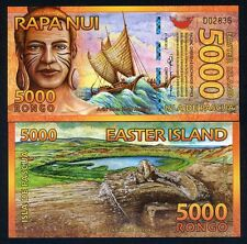 Easter Island, 5000 (5000) Rongo, 2012, Polymer, New, UNC   Beautiful