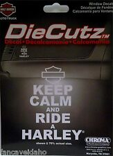 Harley Davidson Keep Calm and Ride a Harley Auto Car Vinyl Window Decal Sticker