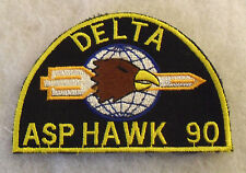 "1990'S ""DELTA ASP HAWK 90"" GERMAN MADE POCKET PATCH FOR FAMOUS US ARMY HAWK BATY"