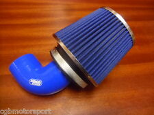 RENAULT 5 GT TURBO NEW BLUE CONE INDUCTION AIR FILTER + FITTING KIT SILICONE