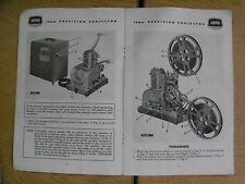 Instructions cine projector AMPRO STYLIST 16MM projector