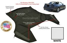 Ford Mustang Convertible Soft Top (Top Section Only) WHITE Sailcloth 1994-2004