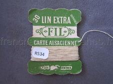 R534 Mercerie vintage ancienne carte FIL DE LIN EXTRA 30 CARTE ALSACIENNE Lyon