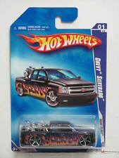 HOT WHEELS 2009 HEAT FLEET  CHEVY SILVERADO #01/10 W/ MOTORCYCLE