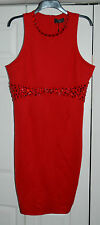 New Sz 20 Limited AX Paris Curve RED Crystal Detailed Wiggle Dress party wedding