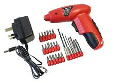 24PC RECHARGEABLE CORDLESS ELECTRIC SCREWDRIVER SET 4.8V POWER BITS DRIVER KIT