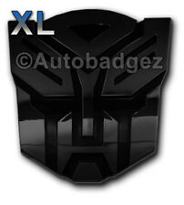 2 - XL transformers AUTOBOT auto badge emblem GLOSS BLACK (PAIR)