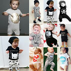 Newborn Baby Boy Clothes Girls Outfits Top Trousers Set Jumpsuit Babygrow Romper